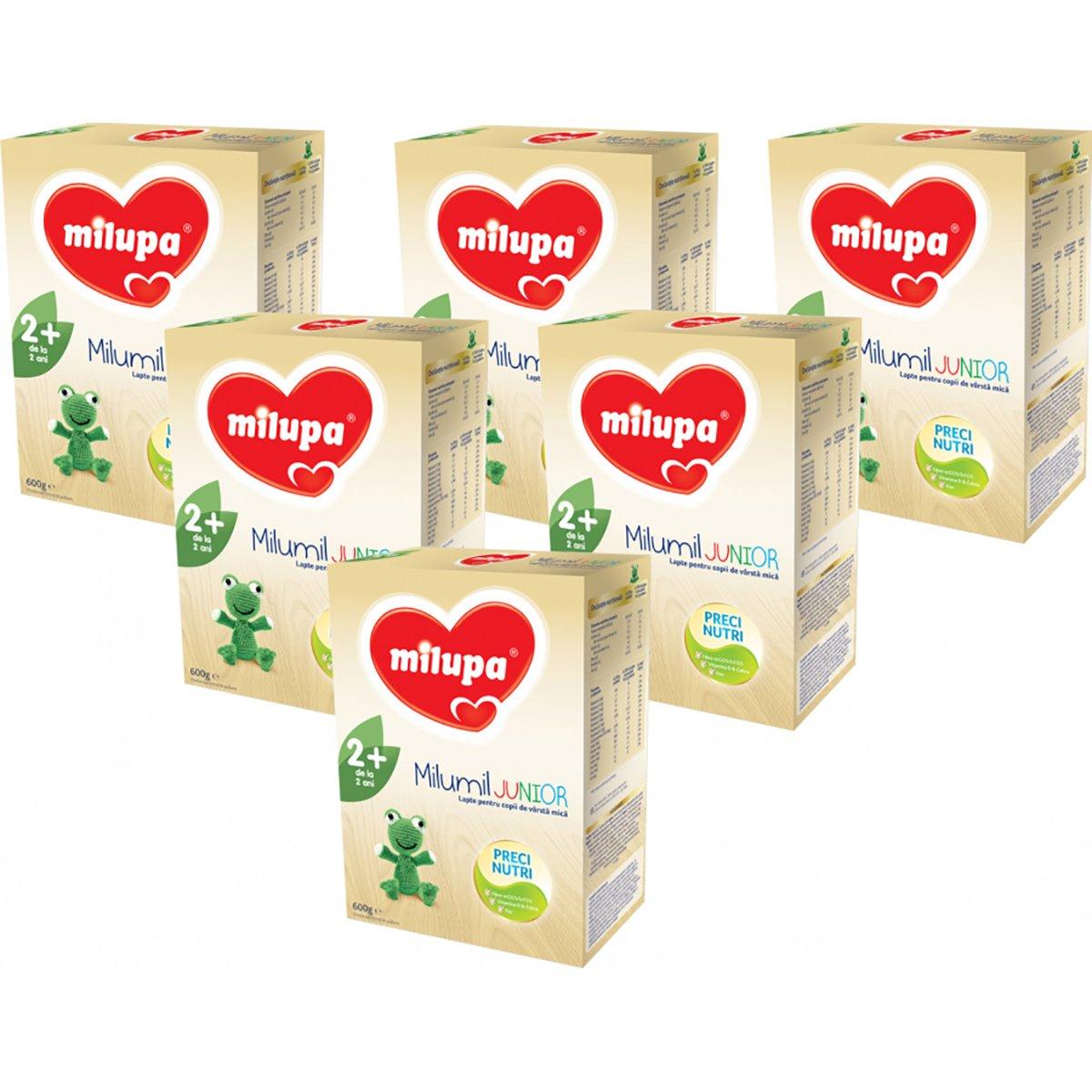 Lapte praf Milupa Milumil Junior 2+, 6 pachete x 600 g imagine