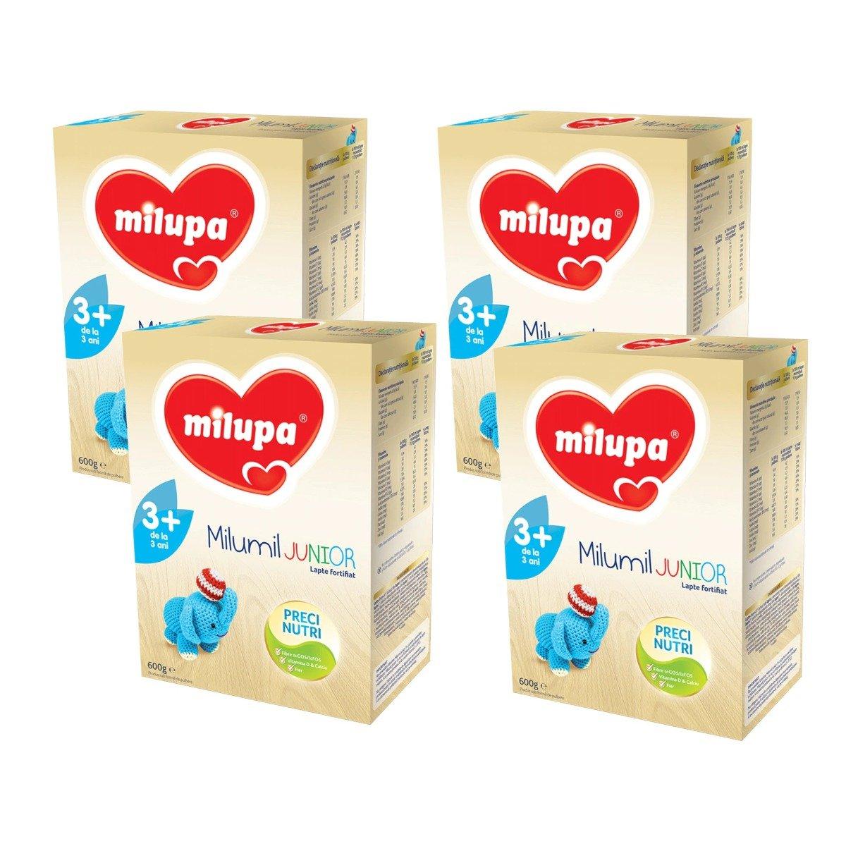 Lapte praf Milupa Milumil Junior 3+, 4 pachete x 600 g imagine