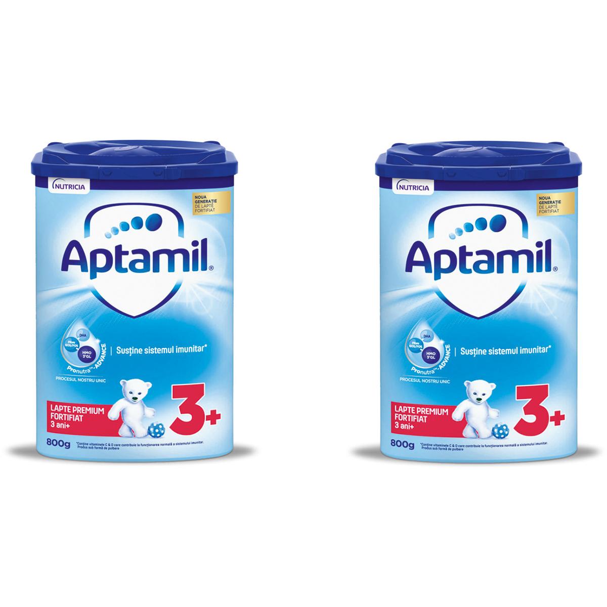 Lapte praf Aptamil Junior 3+, 2 pachete x 800 g imagine