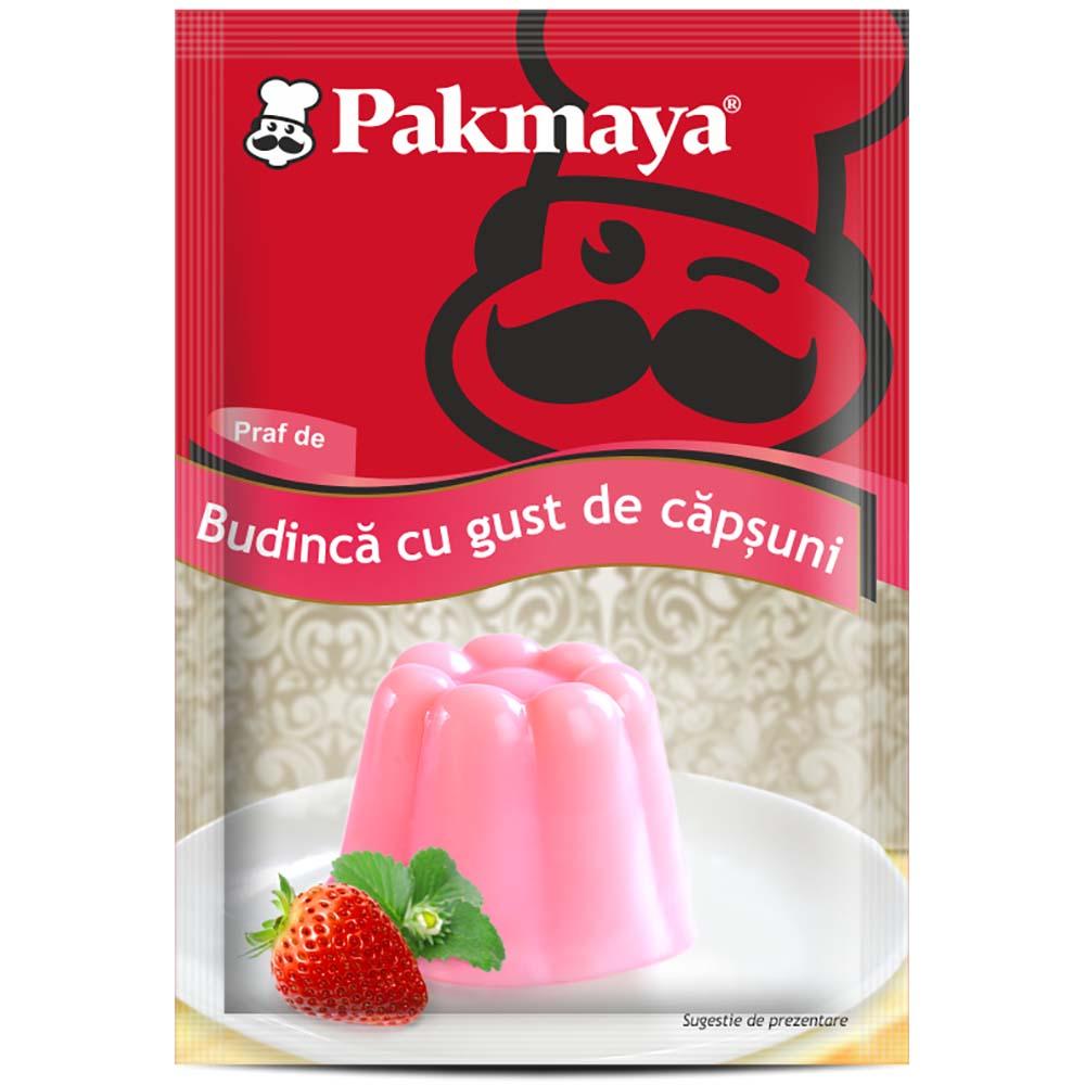 Cutie Praf de budinca cu gust de capsuni Pakmaya 40g x 24 pliculete imagine