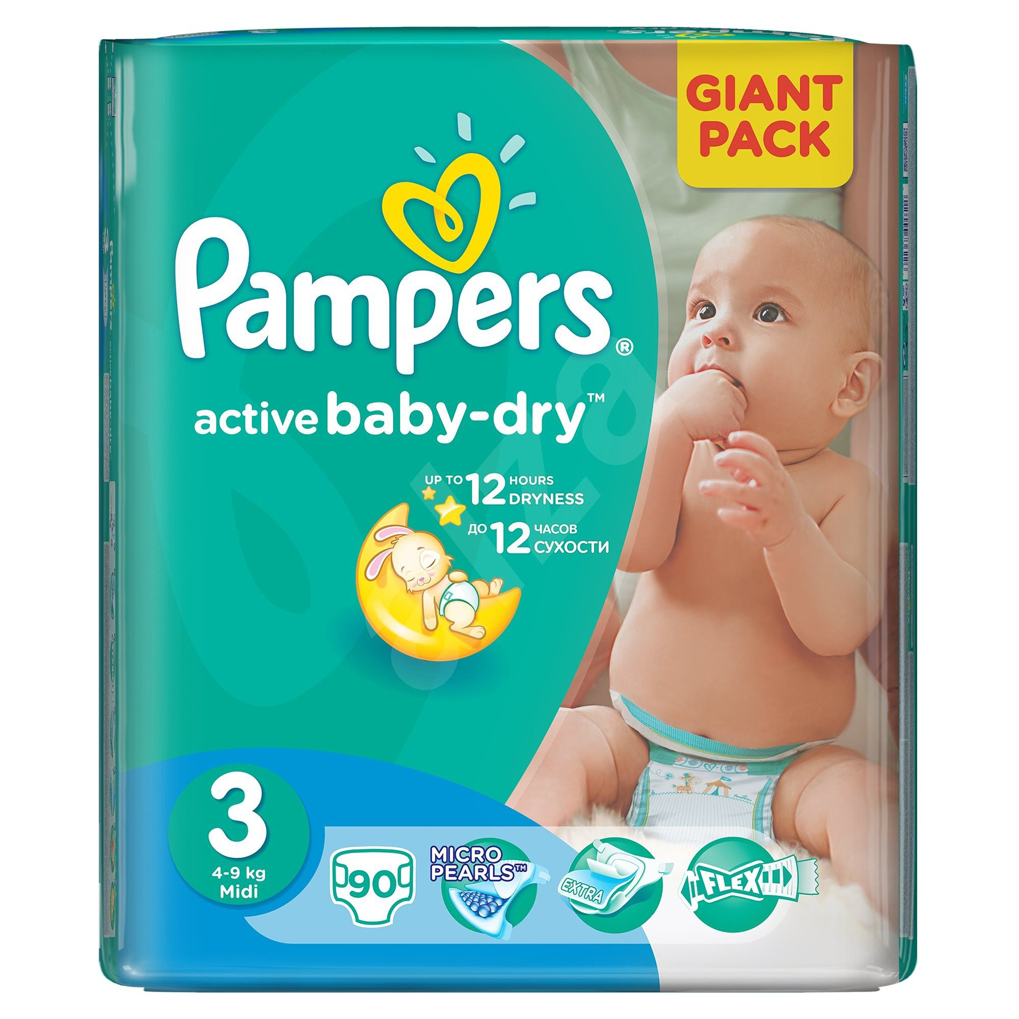 scutece pampers active baby-dry 3 midi, 90 buc, 4 - 9 kg