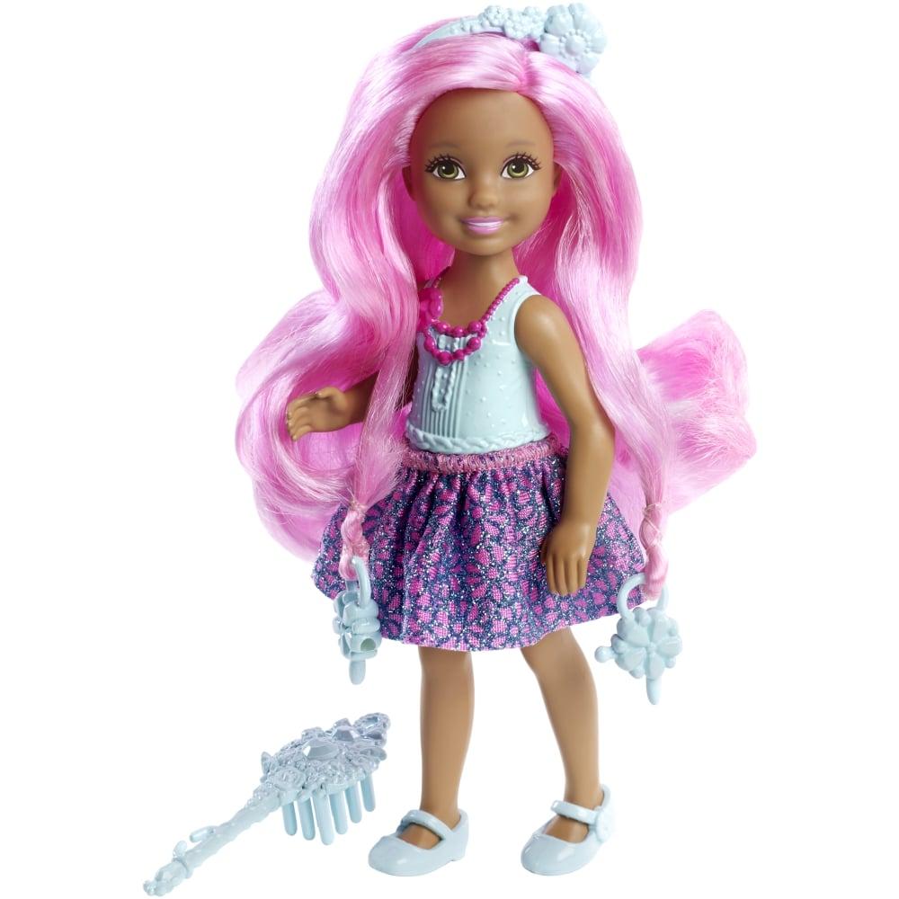 papusa barbie - chelsea cu par roz