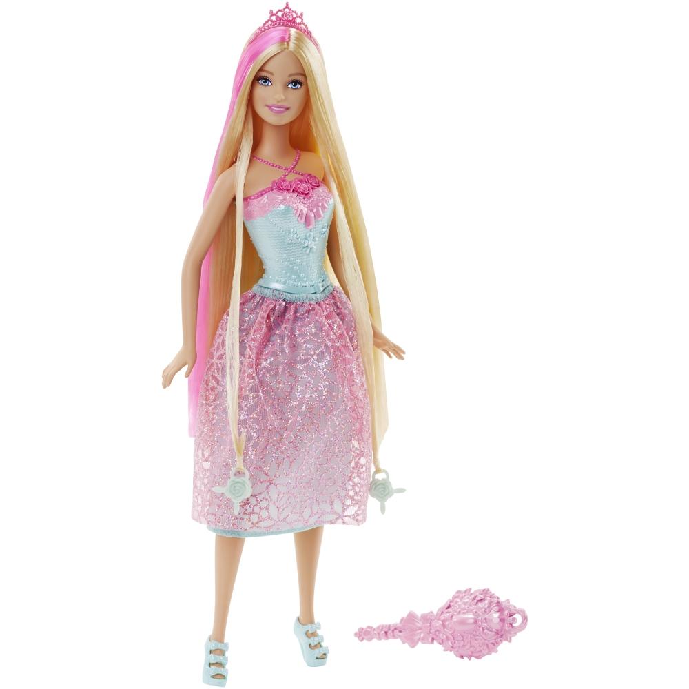 papusa barbie cu par blond - regatul parului fara sfarsit