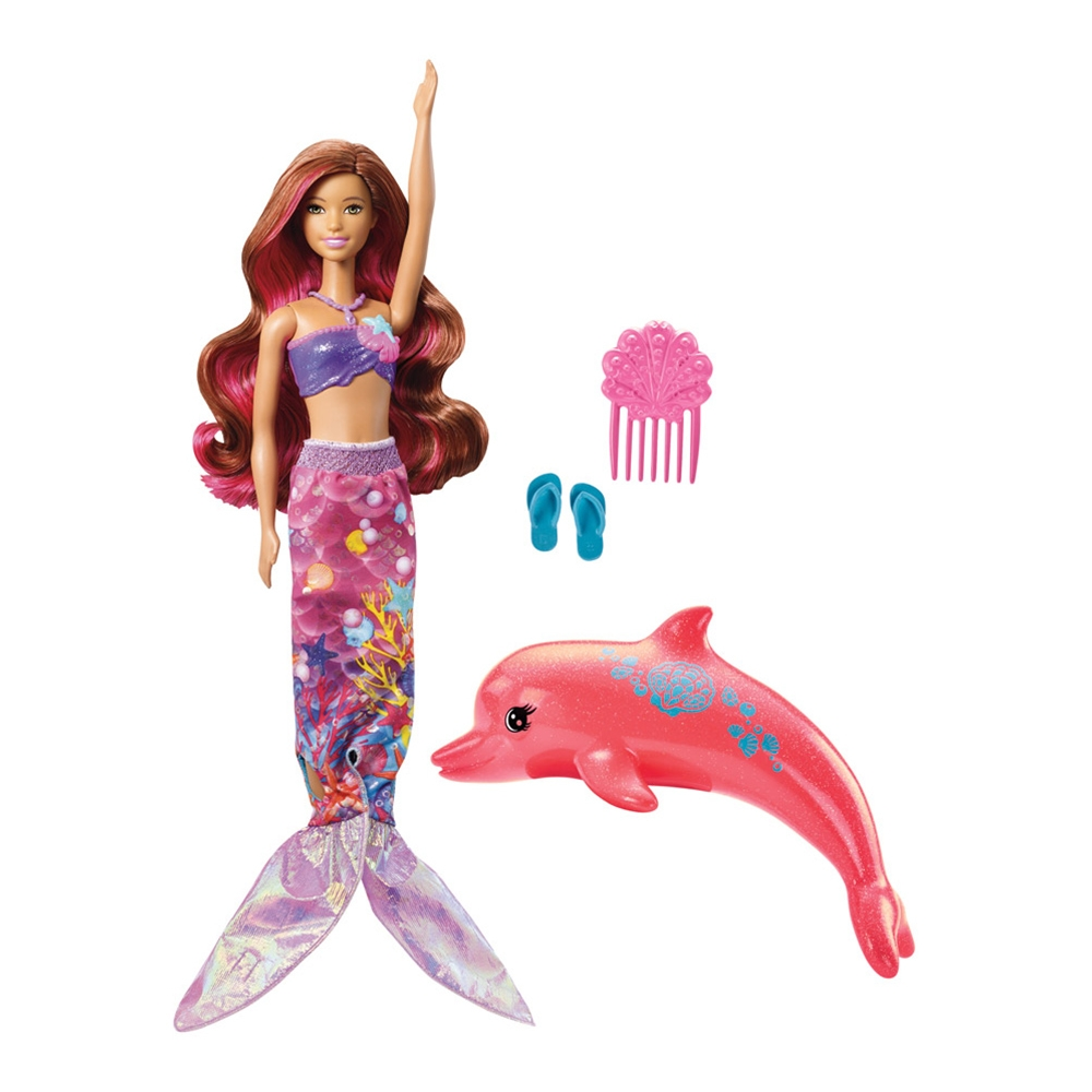 papusa barbie dolphin magic - sirena cu delfin magic