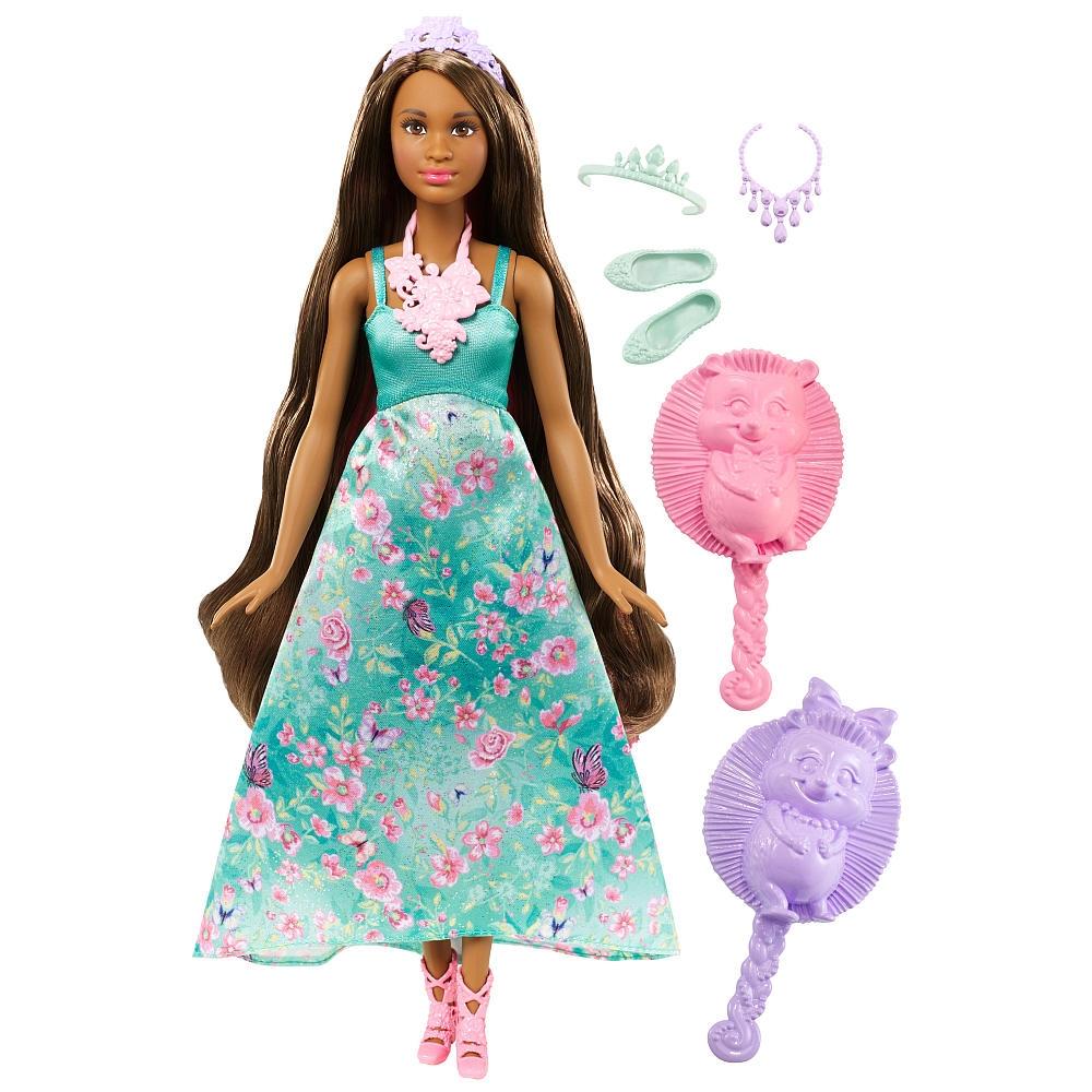 papusa barbie dreamtopia color stylin princess in rochie bleu