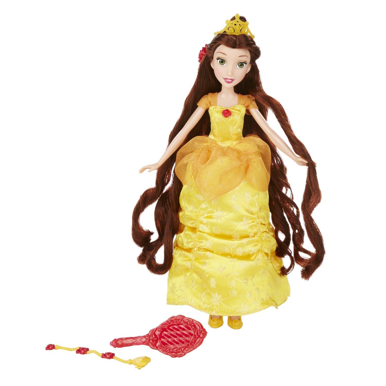 papusa disney princess cu accesorii de par - belle