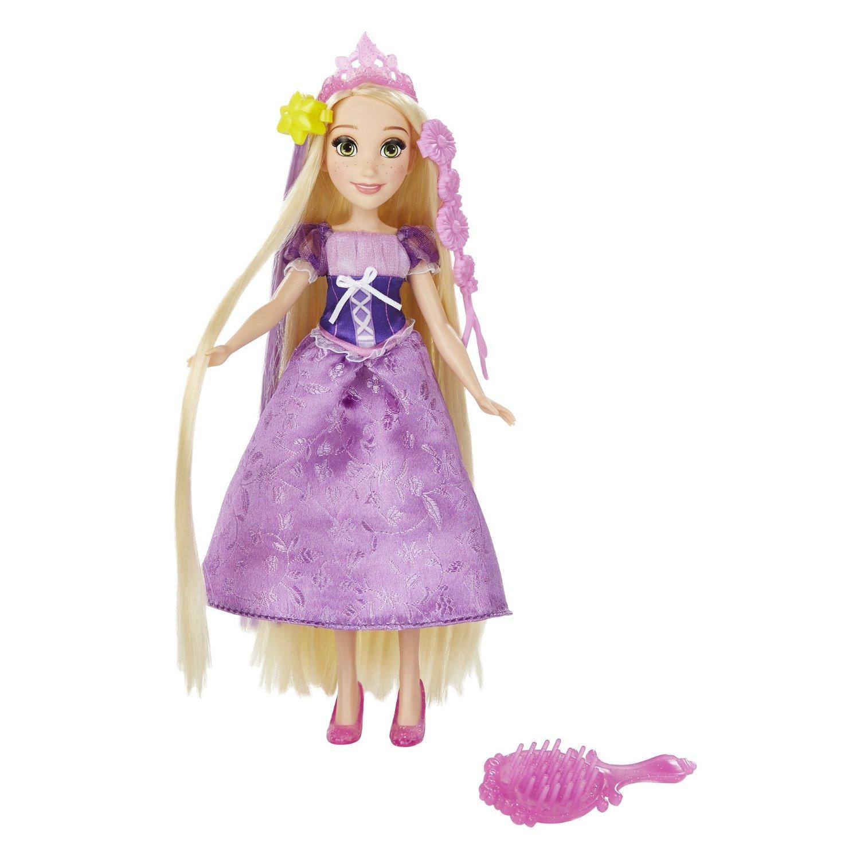 papusa disney princess cu accesorii de par - rapunzel