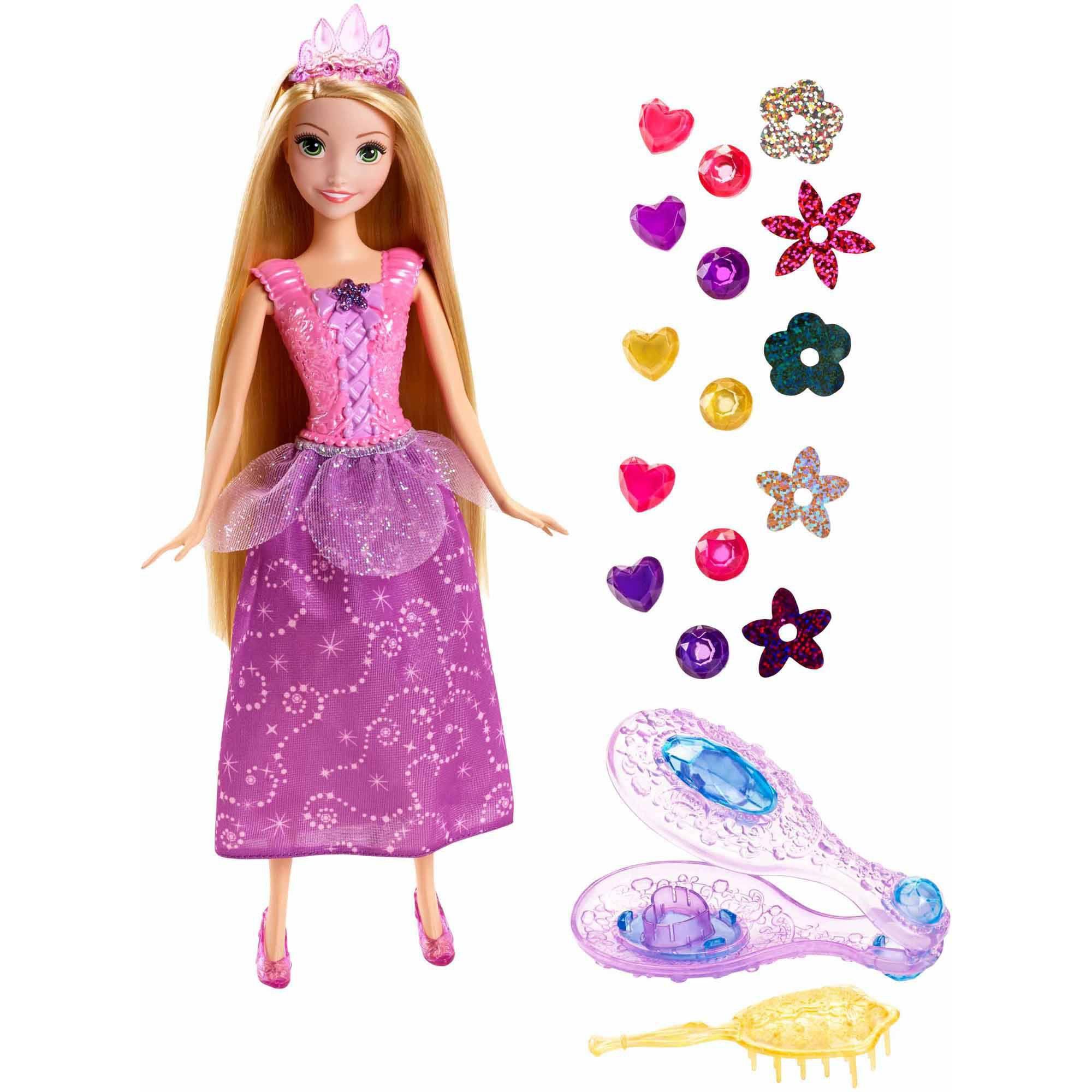 papusa disney princess - rapunzel si pietrele pretioase