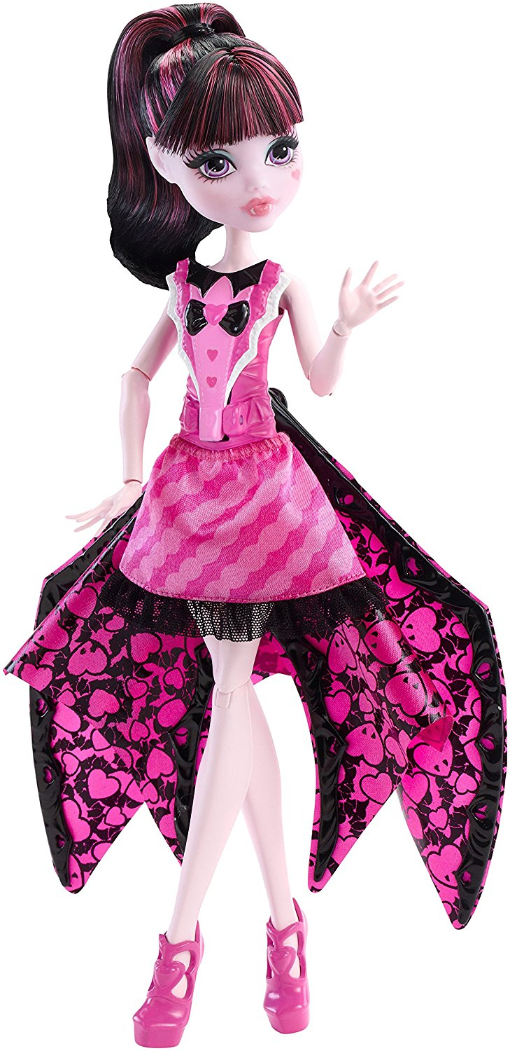 papusa monster high transformarea in vampir liliac - draculaura
