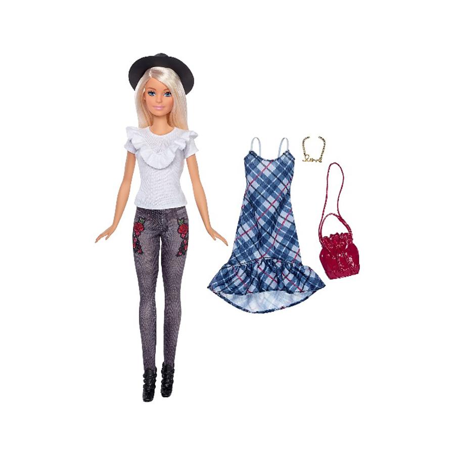 papusa cu haine de schimb barbie fashionistas