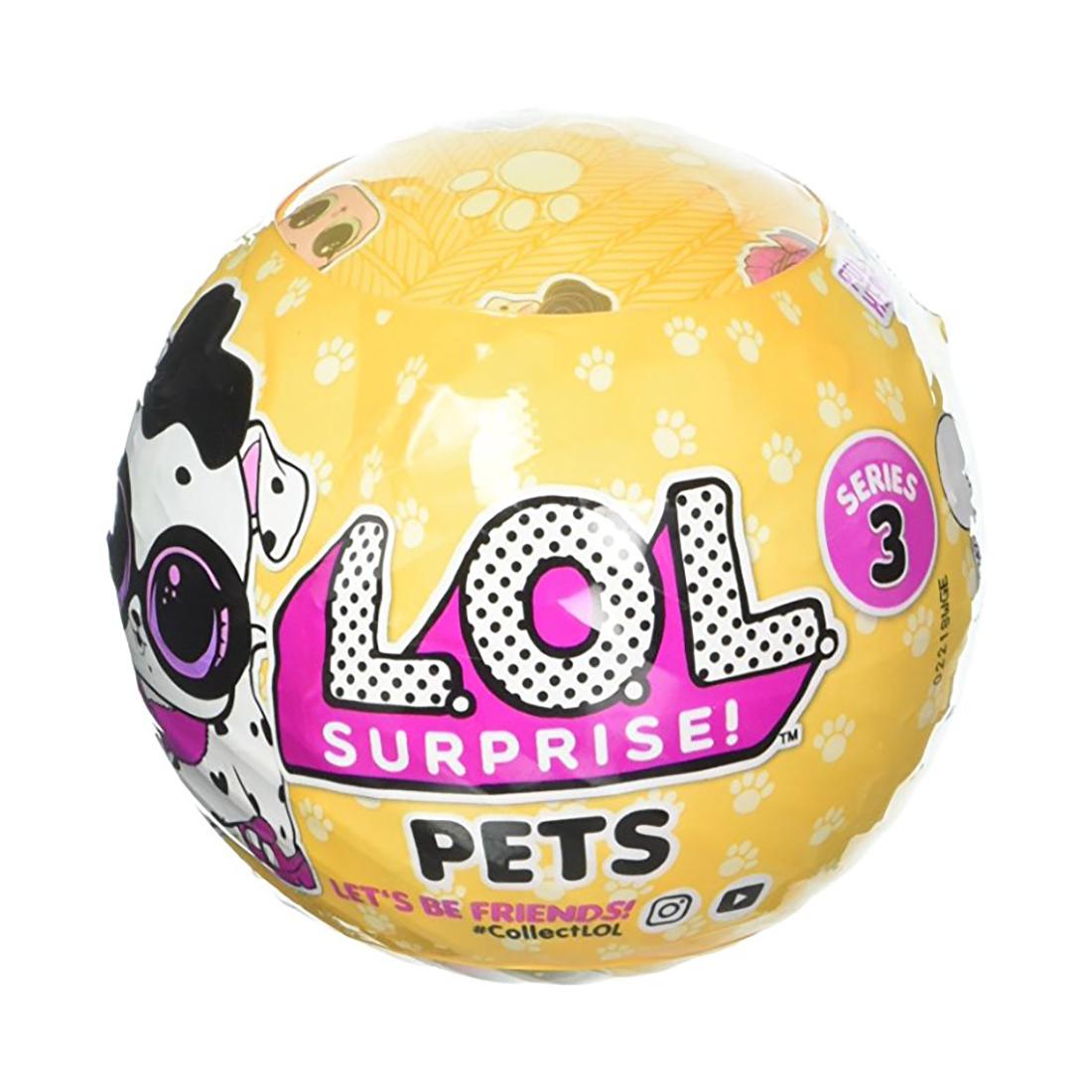 Papusa LOL Surprise Ball - Pets, 7 piese (Seria 3-2B)