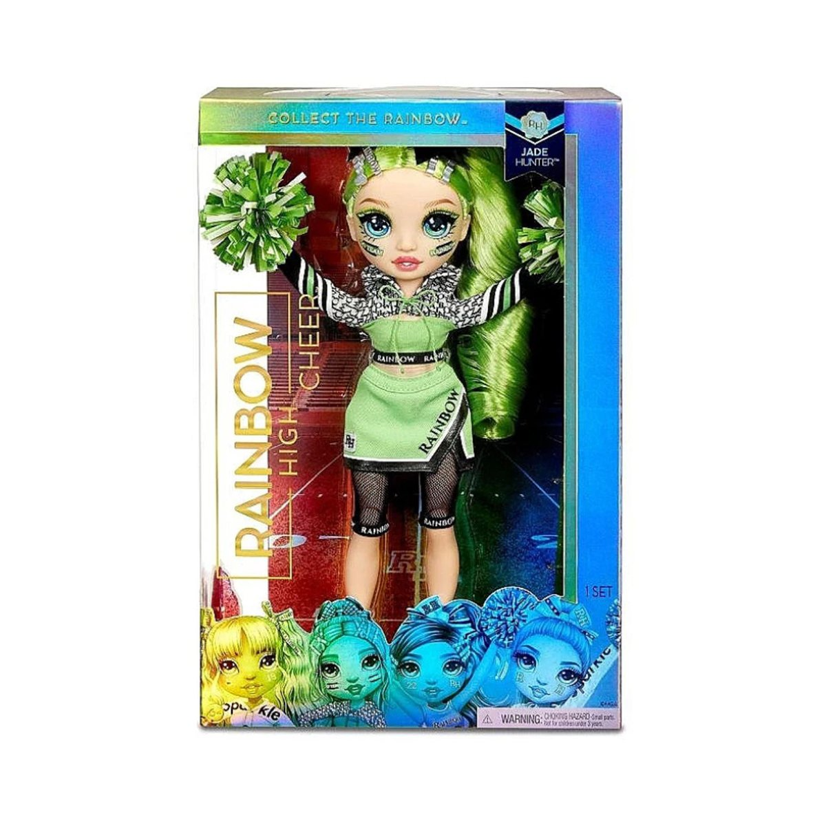 Papusa Majoreta Rainbow High, Jade Hunter, 572060EUC