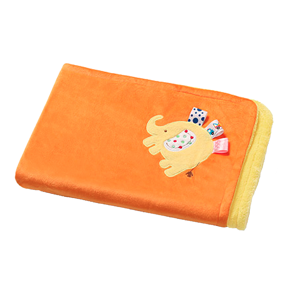 paturica bebe babyono microfibra 3d, 75x100 cm - portocaliu