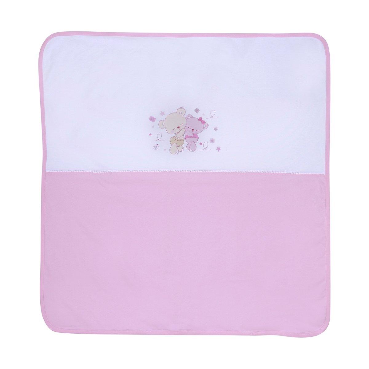 paturica bebe lorelli classic za za - pink, 90x90 cm
