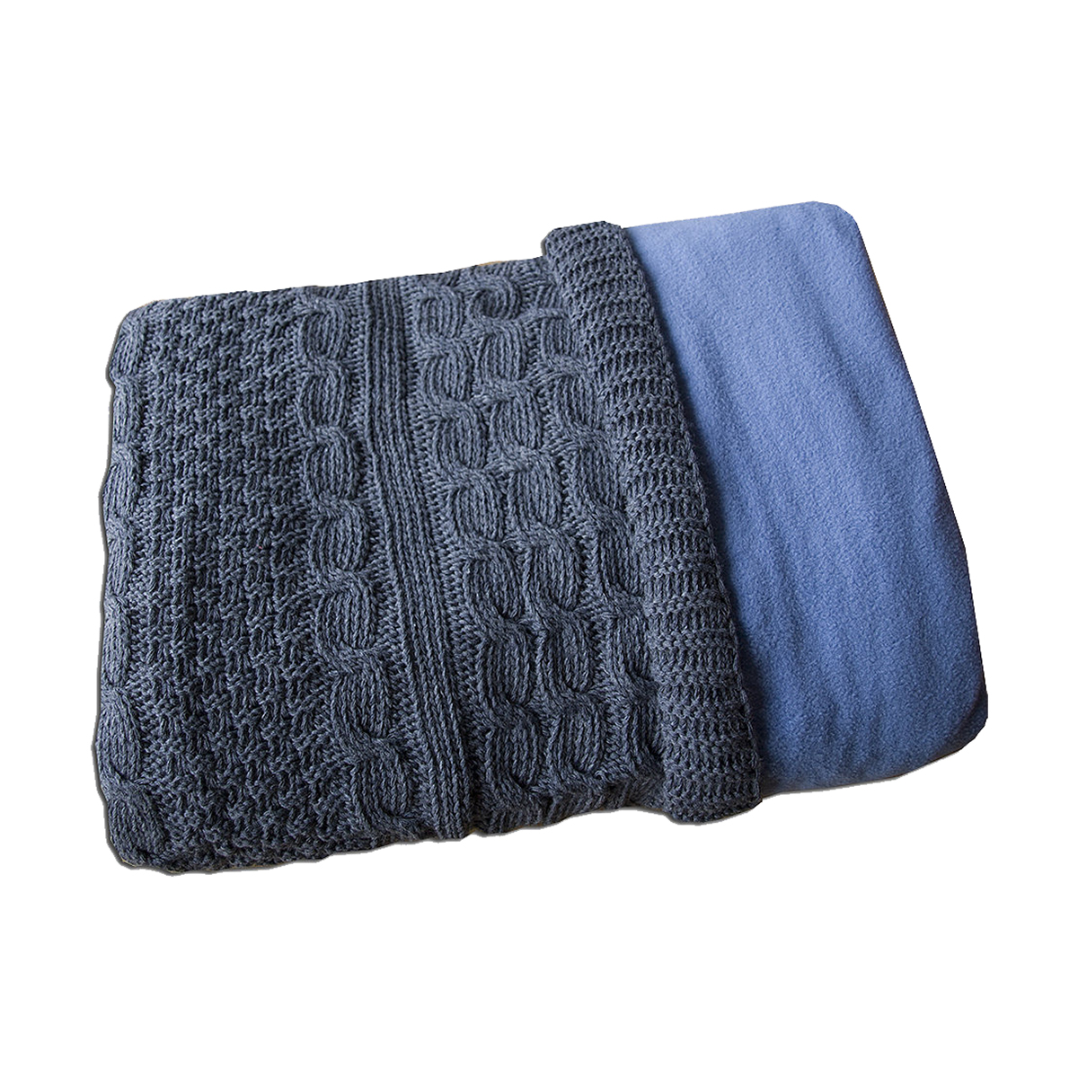 paturica bebelusi bebemix romantic de iarna, 80x100 cm - bleumarin