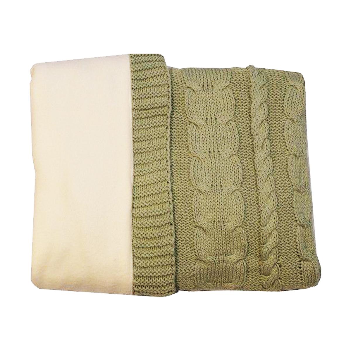 paturica bebemix pearl de iarna 80x100 cm, verde