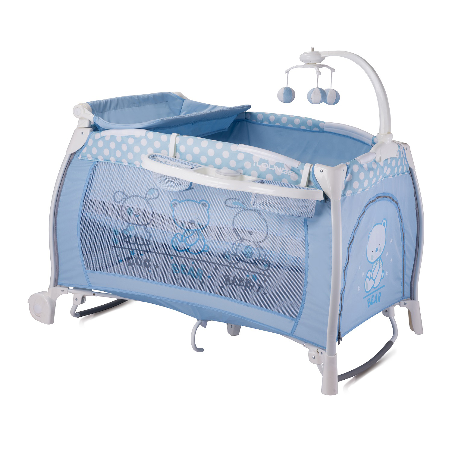 patut bebe lorelli classic i'lounge rocker - blue friends