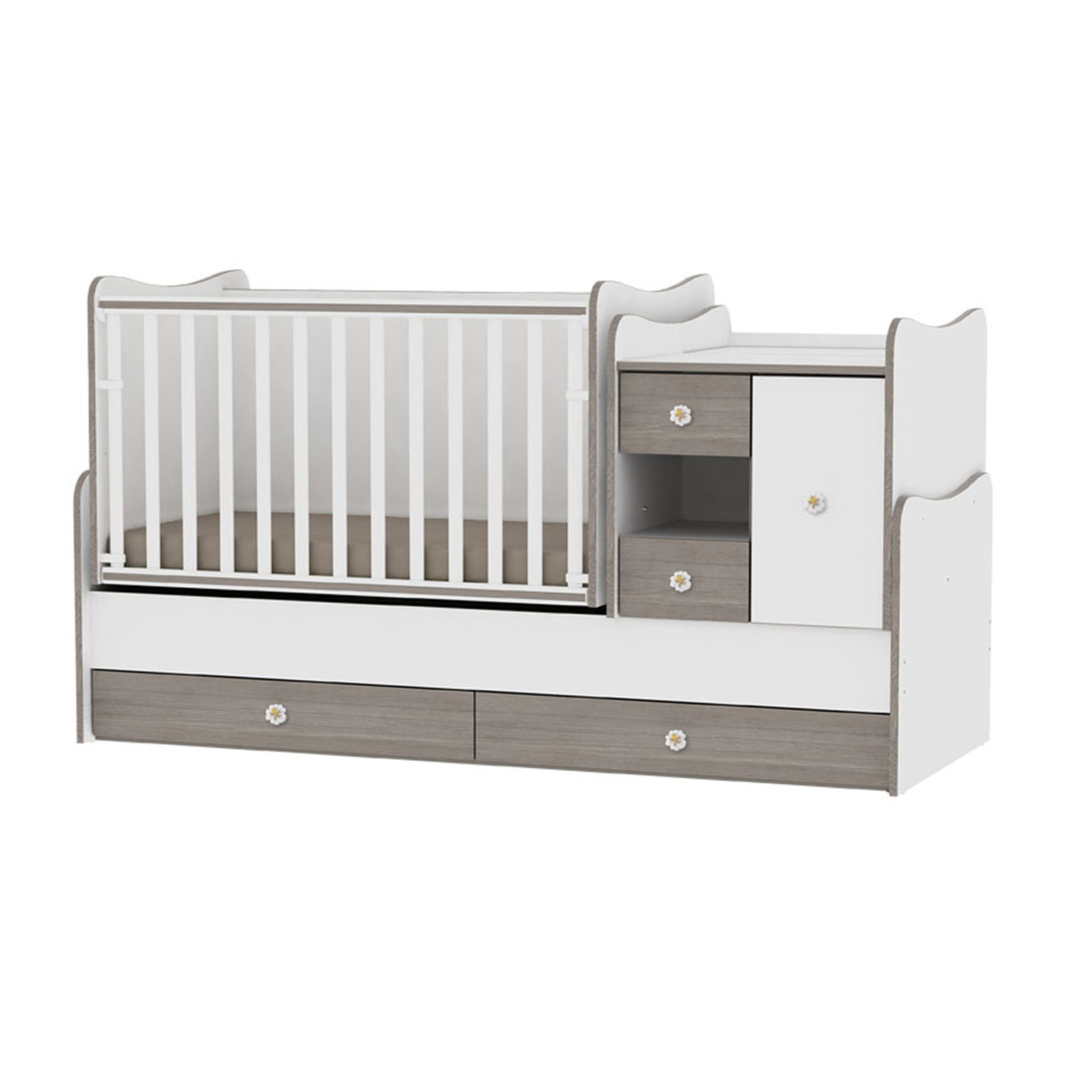 patut bebe lorelli classic mini max - new white & coffee
