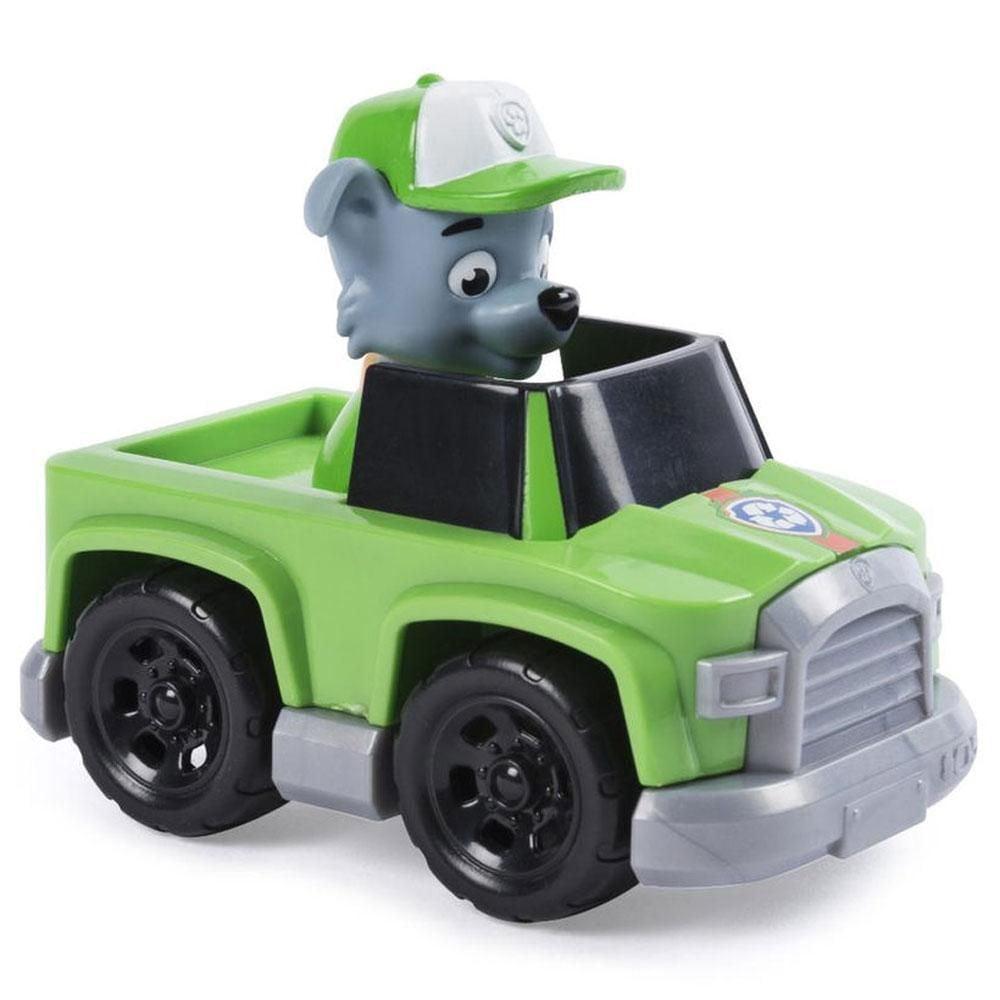Figurina Paw Patrol Jungle Rescue, Rocky si masinuta de patrulare
