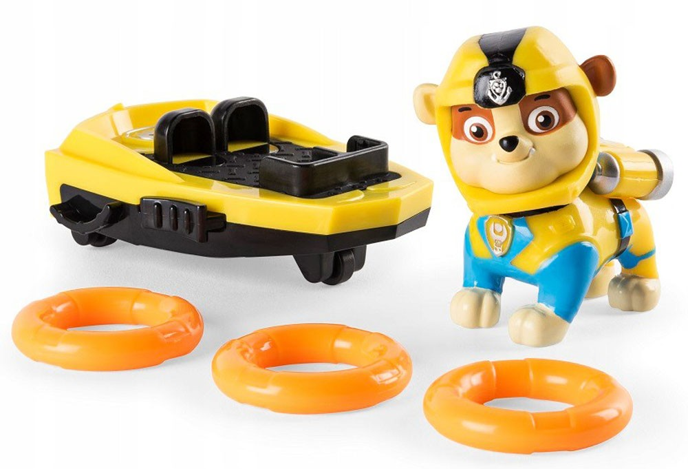 Paw Patrol - Figurina Sea Patrol Rubble Surfboard