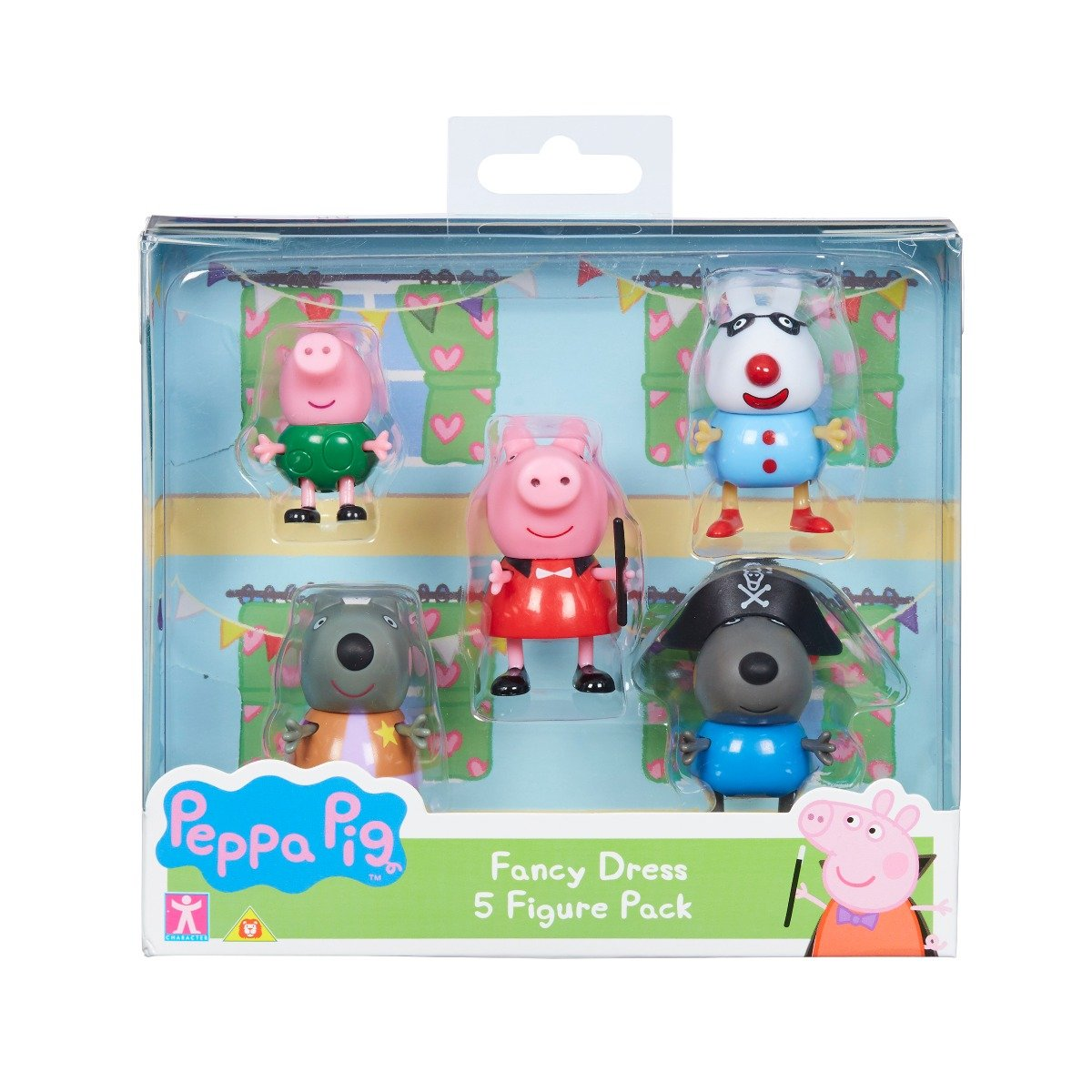 Set 5 figurine Peppa Pig Fancy Dress W2