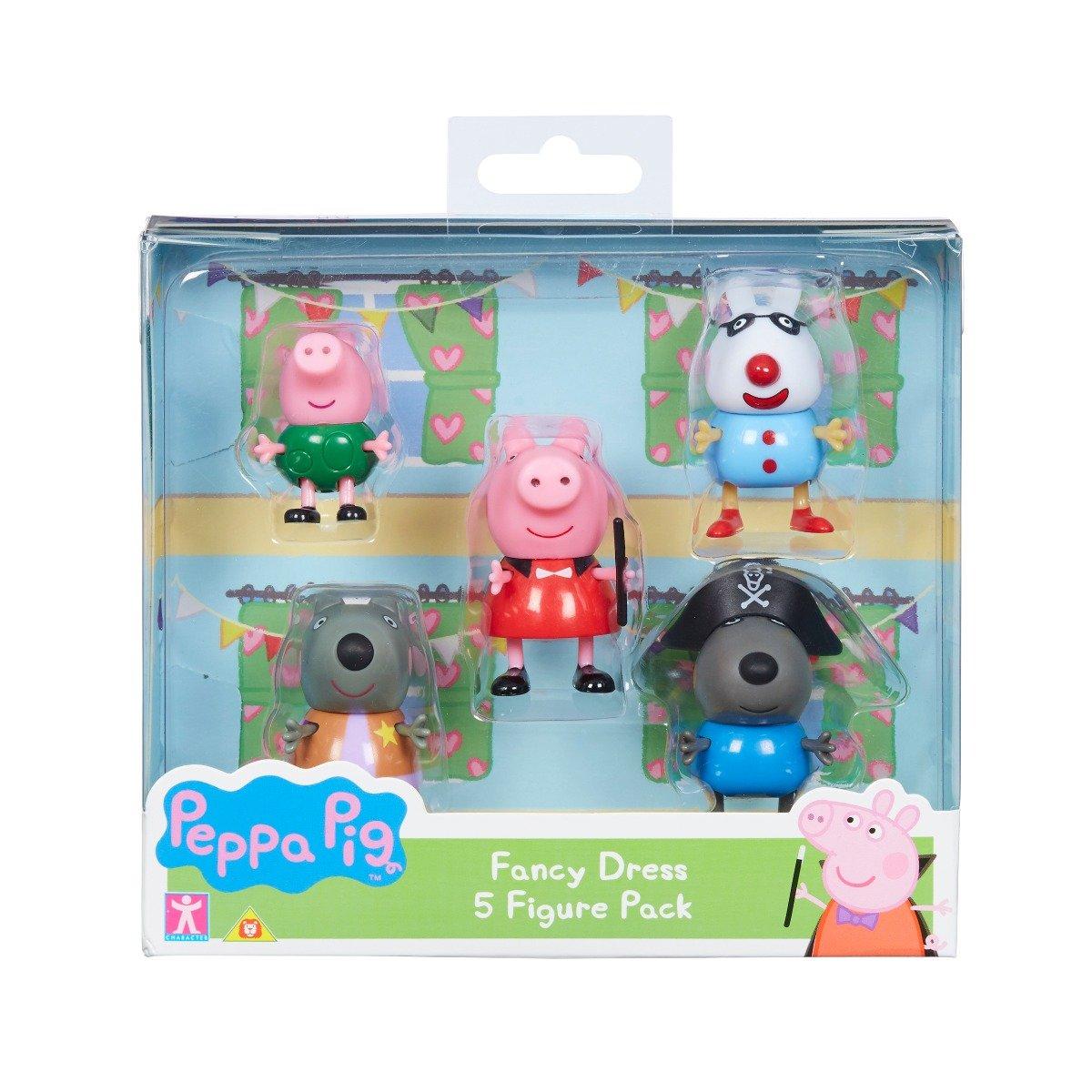 Set 5 figurine Peppa Pig Fancy Dress W2 imagine