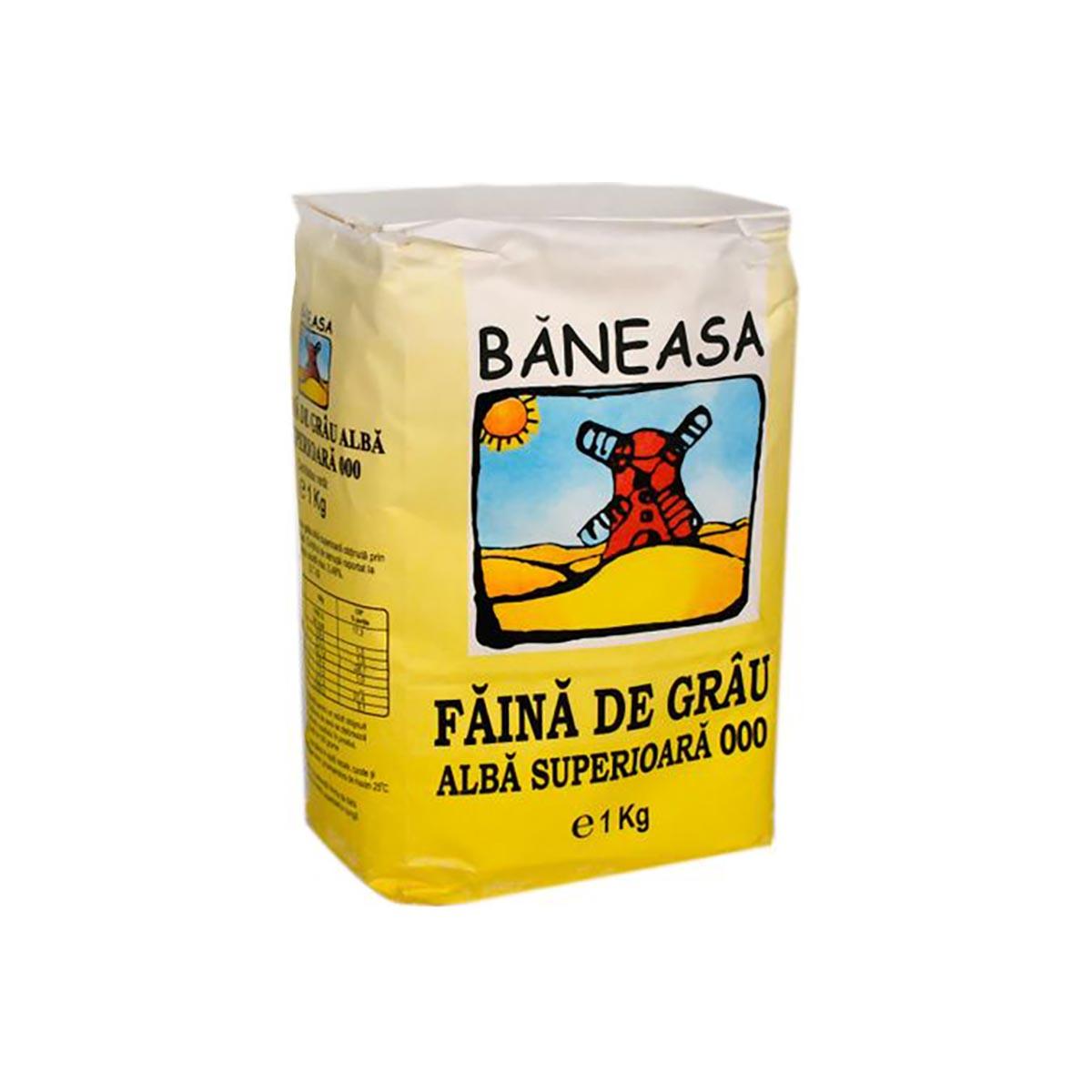 Faina de grau alba superioara Baneasa, 000, 1 kg