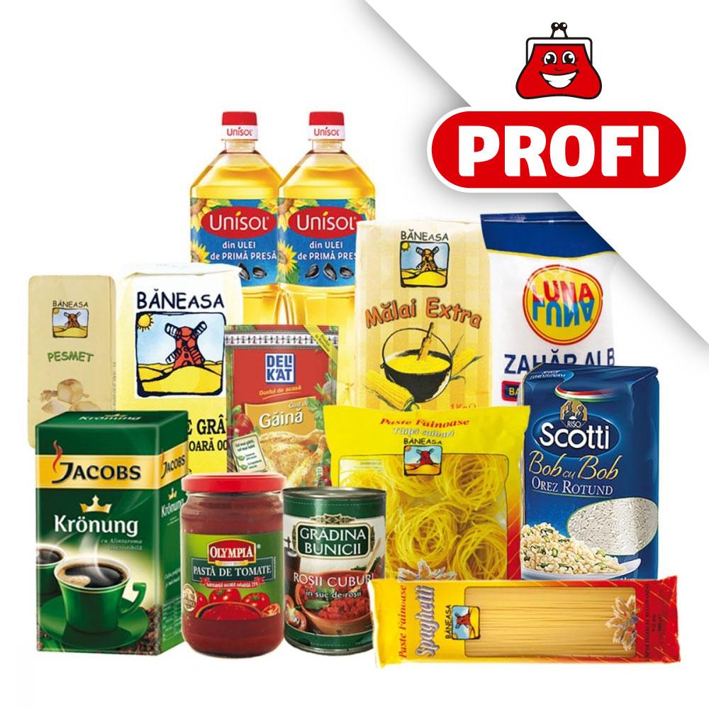 PROFI, Pachet cu produse alimentare de baza