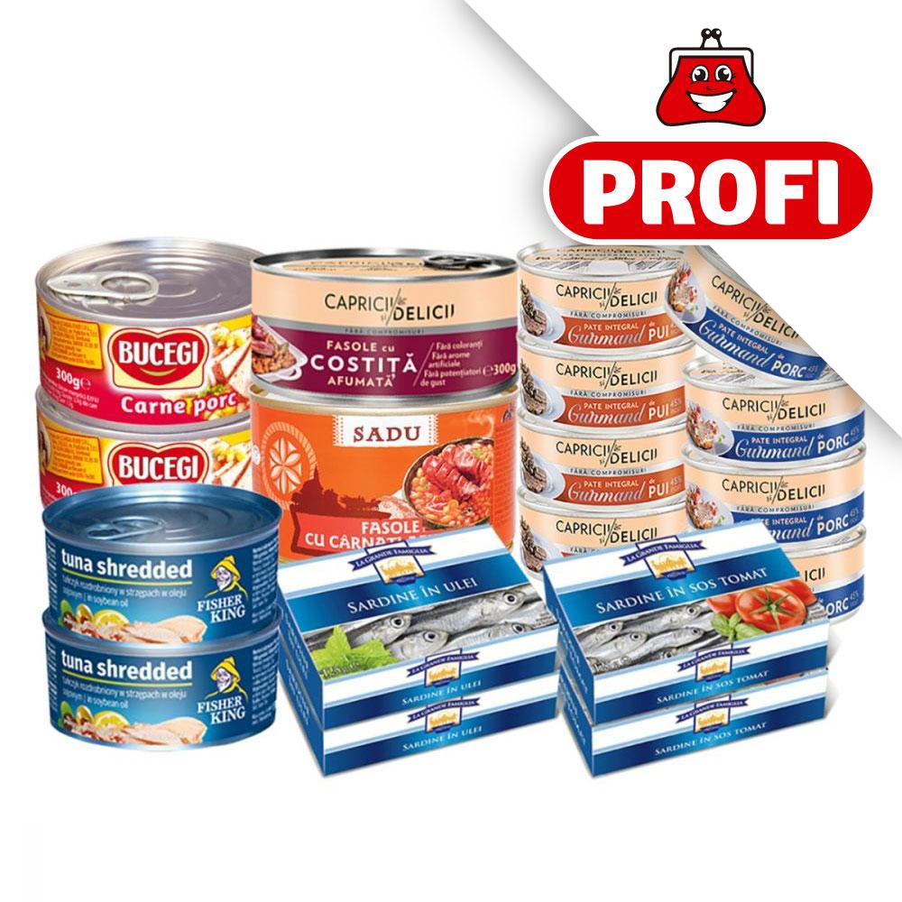 PROFI, Pachet cu produse alimentare cu carne si peste