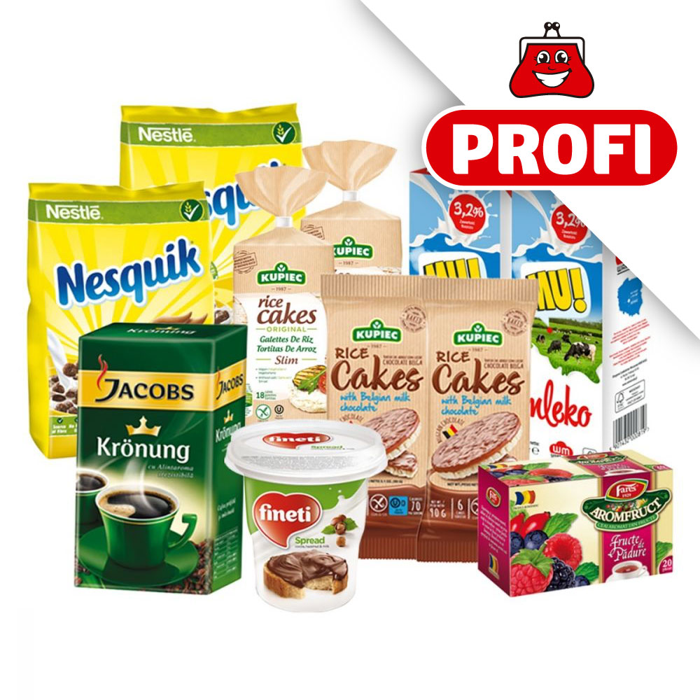 PROFI, Pachet cu produse alimentare pentru mic dejun