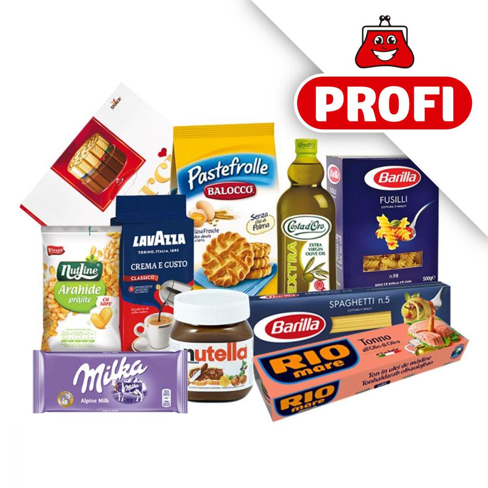 PROFI, Pachet cu produse alimentare premium