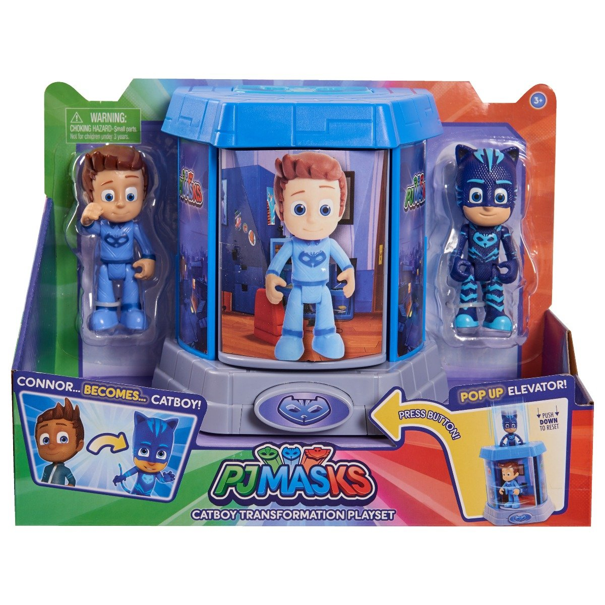 Set Figurine Pj Masks Transforming, Connor si Catboy 95466