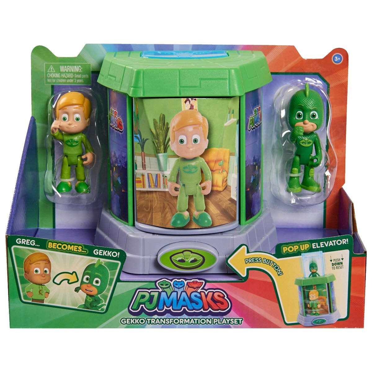 Set Figurine Pj Masks Transforming, Greg si Gekko 95468