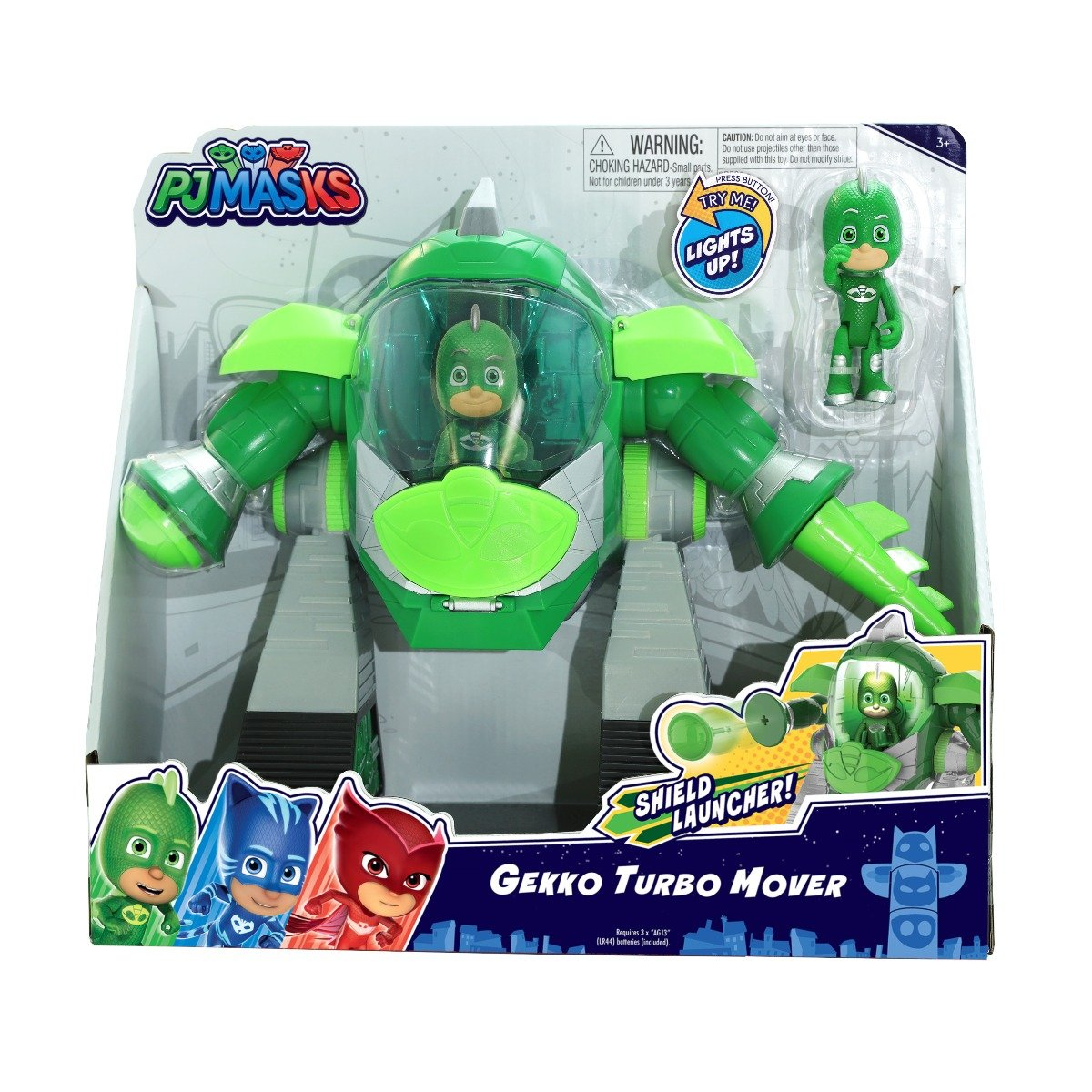 Figurina Pj Masks Turbo Mover, Gekko 95508