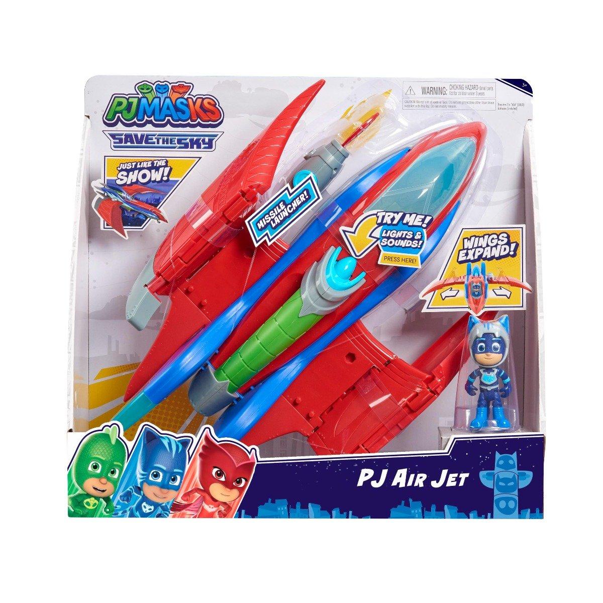Set de joaca cu figurina Pj Masks Air Jet, Catboy