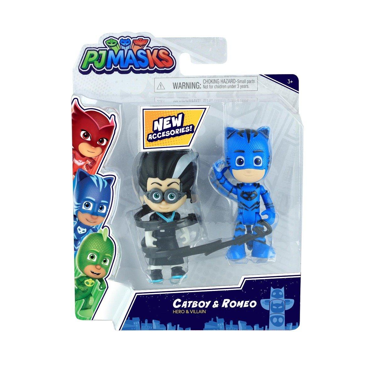 Set figurine Pj Masks Hero and Villain, Catboy si Romeo 95776