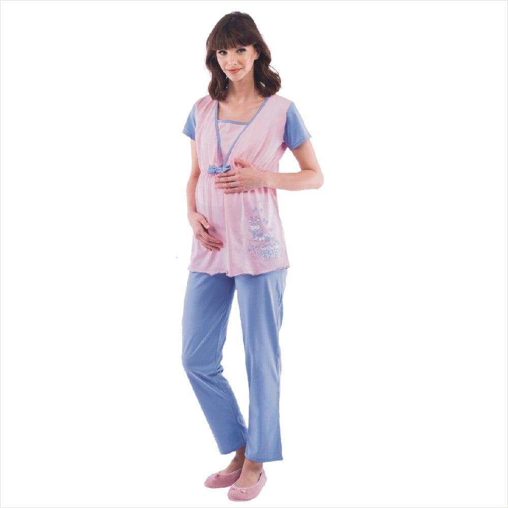 Pijama pentru alaptat Uniconf, Roz