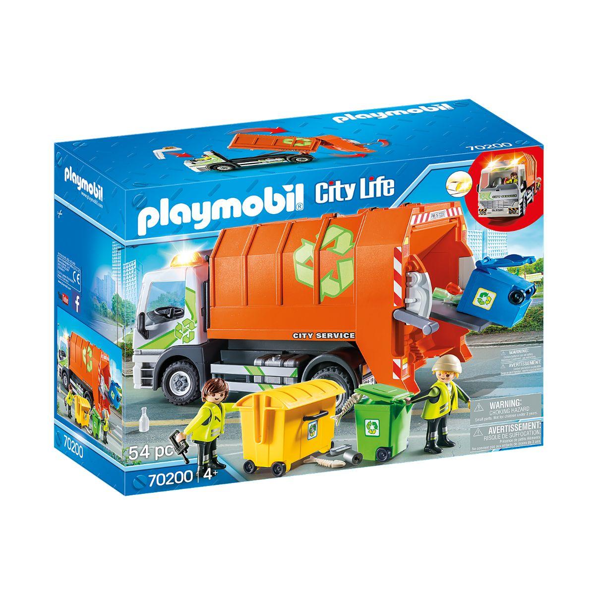 Set Playmobil City Life - Camion de reciclat