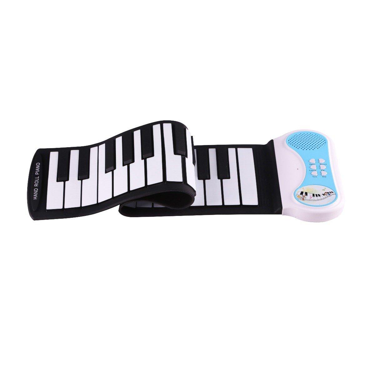 Pianina Flexibila Pentru Copii Tip Roll-up Konix, 37 Clape
