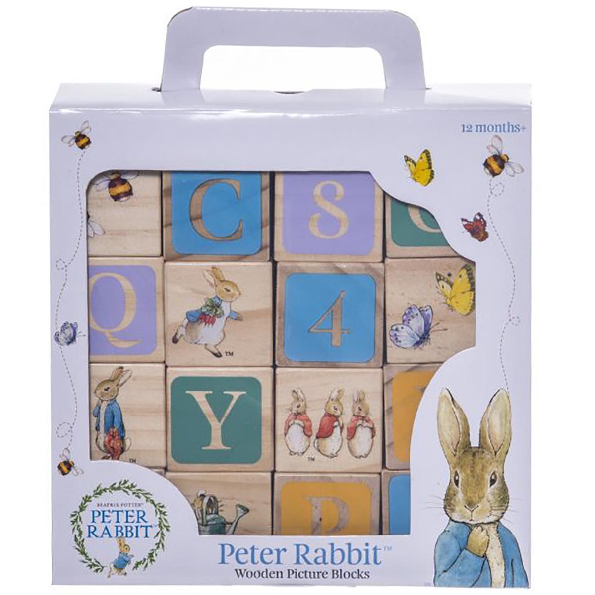 Joc Peter Rabbit, Cuburi din lemn, 16 piese imagine