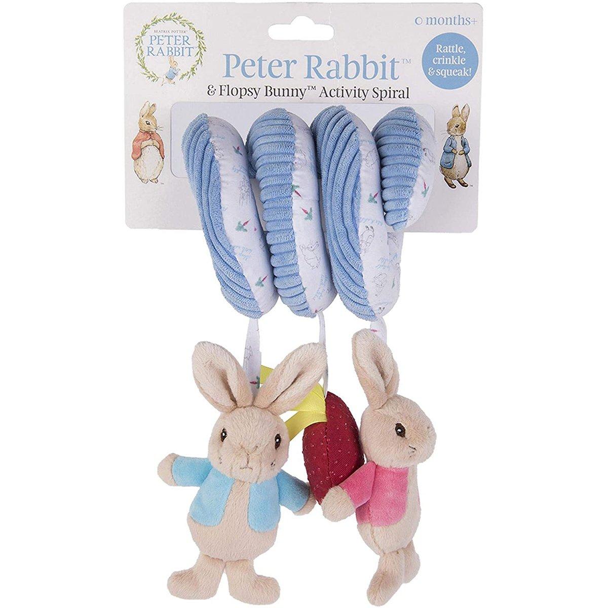 Jucarie Bebelusi Spirala Peter Rabbit, 26 Cm