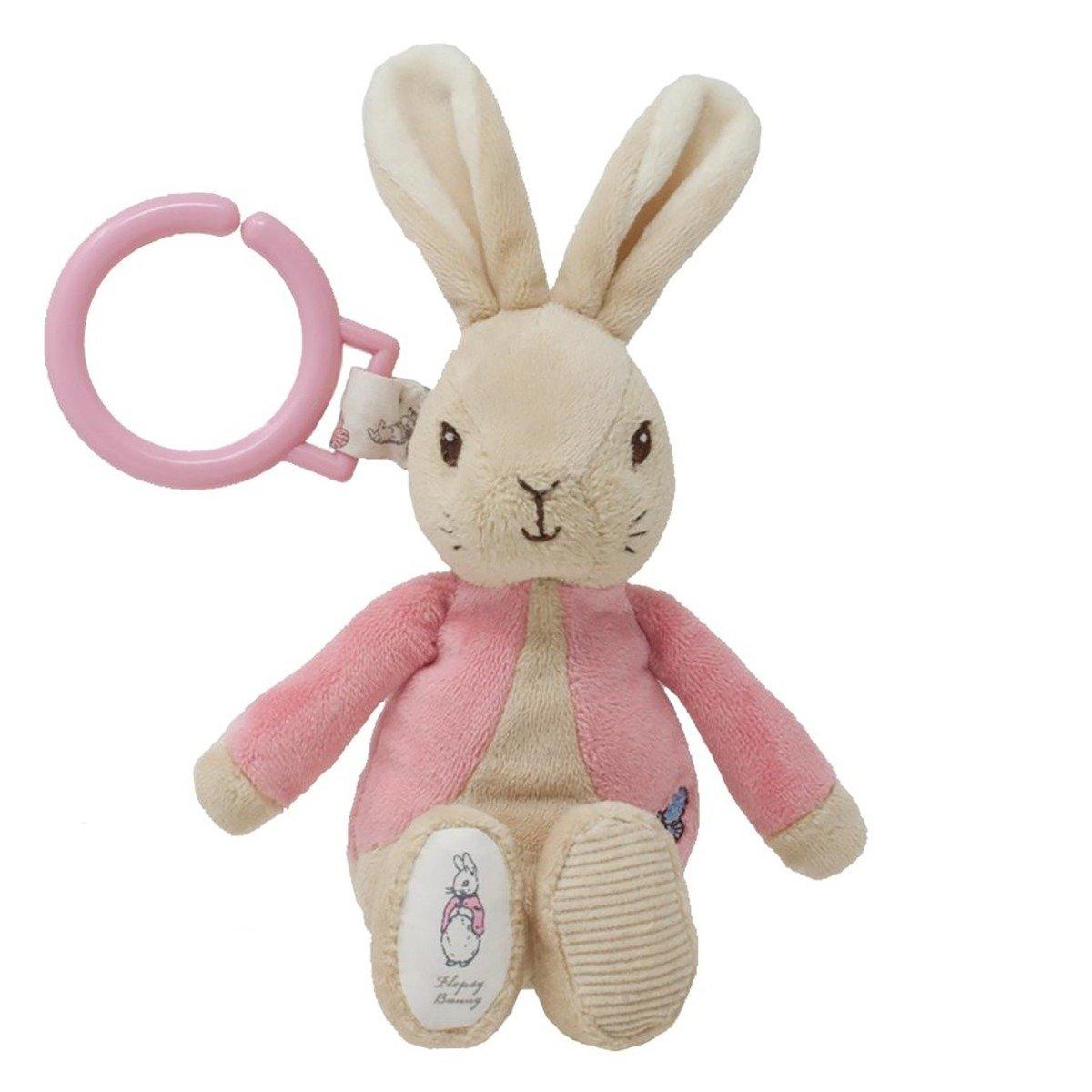 Jucarie Bebelusi Agatatoare Cu Vibratii Flopsy Rabbit, 22 Cm