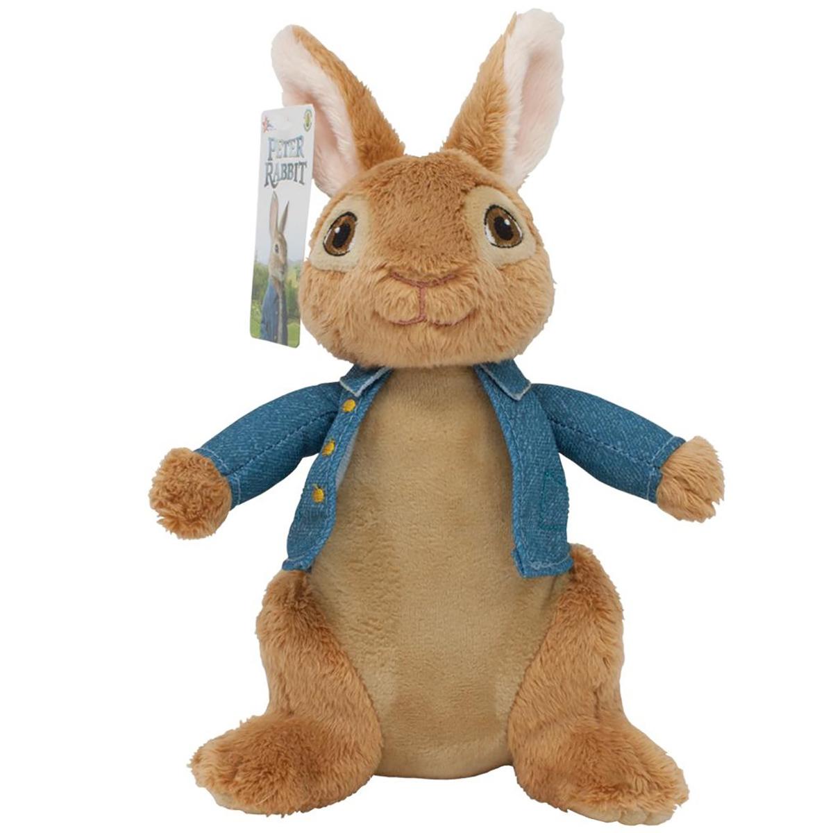 Jucarie bebe de plus Peter Rabbit Movie Albastru