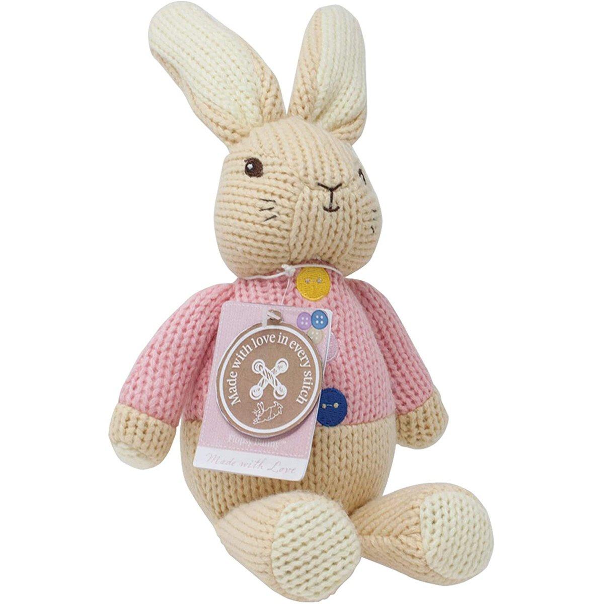 Jucarie Bebelusi Peter Rabbit, Flopsy, Made With Love, 30 Cm