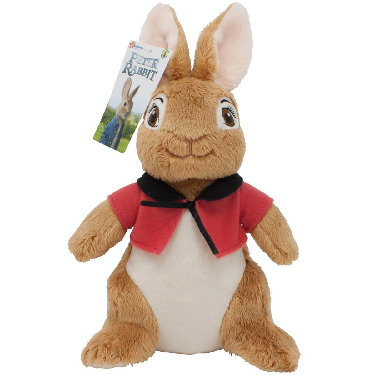 Jucarie bebe de plus Peter Rabbit Movie, Flopsy, Rosu, 23 cm