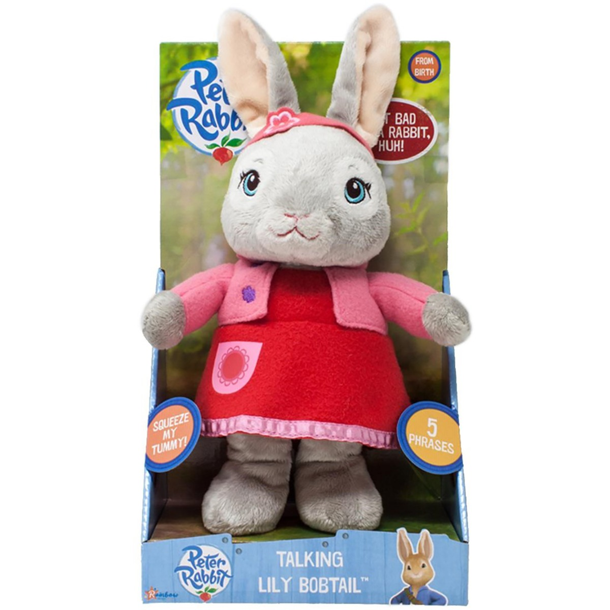 Jucarie de plus interactiva Lily Bobtail, Peter Rabbit, 24 cm