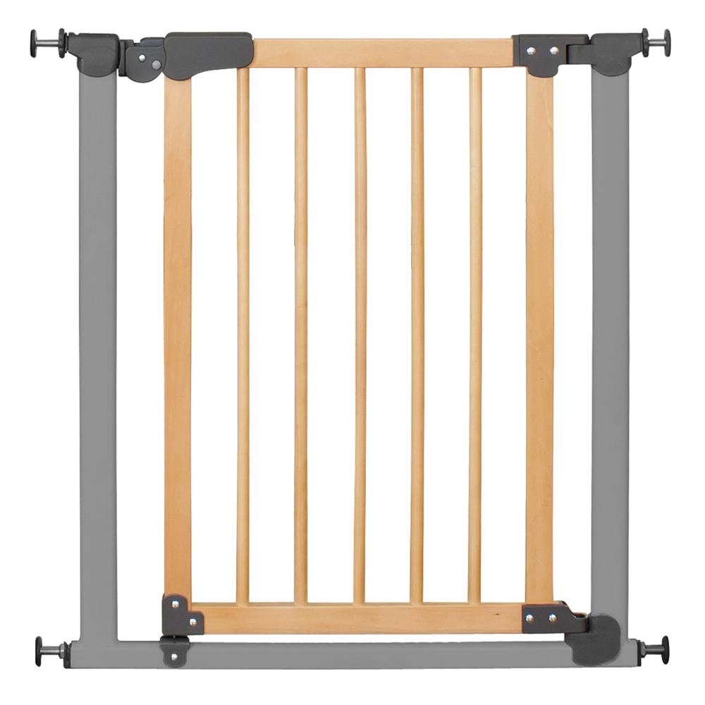 poarta cu montare prin presiune i-gate inchidere active-lock gri/natur reer