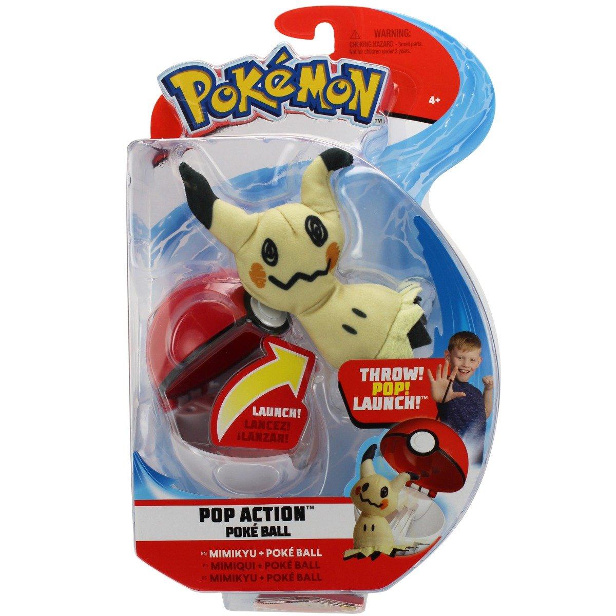 Figurina in bila lansatoare Pokemon Pop Action - Mimikyu, Poke Ball (95093)