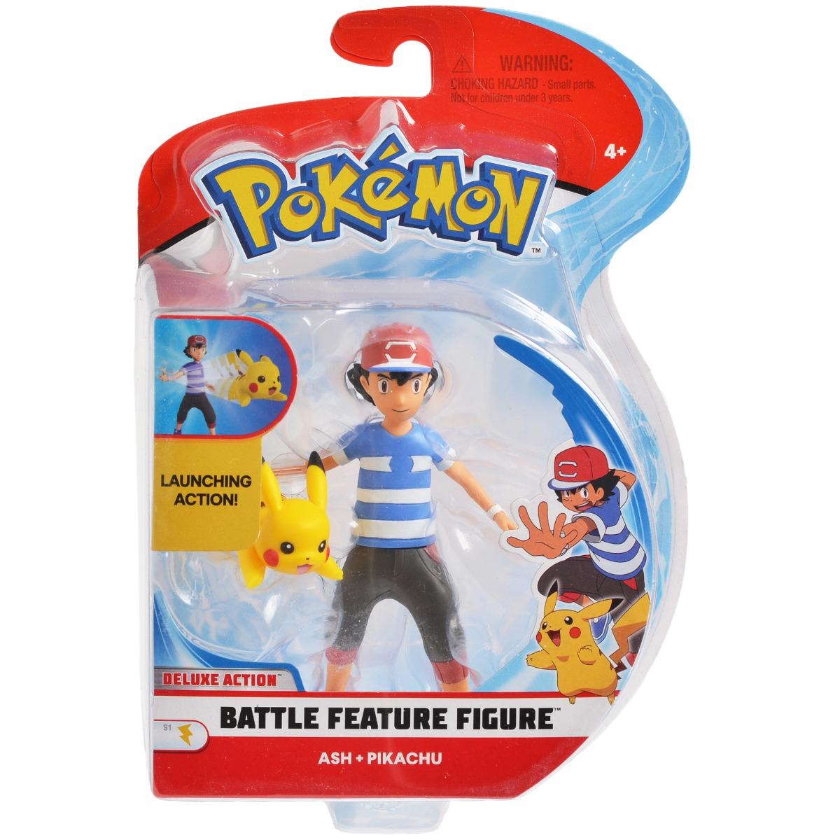 Set figurine Pokemon de lupta S2 - Ash, Pikachiu (95121)