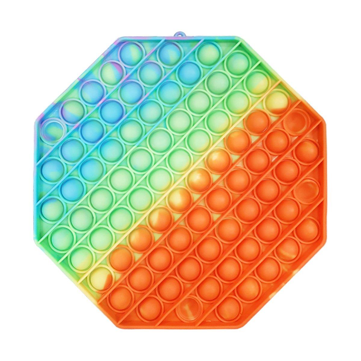 Jucarie antistres Pop It Now, Hexagon, Multicolor